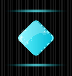 Blue glossy blank web button with reflection vector image