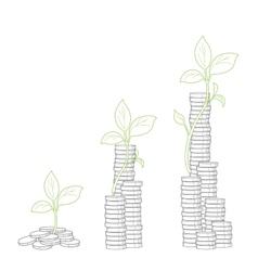Concept of tree growing from money vector image