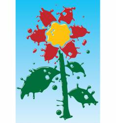 flower as form of drops vector image