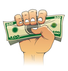Money in people hand vector image vector image
