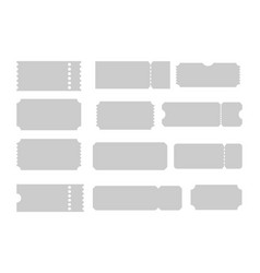 tickets of different forms shapes of tickets vector image