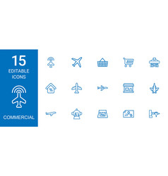 15 commercial icons vector