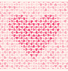 abstract pattern with hearts on light background vector image
