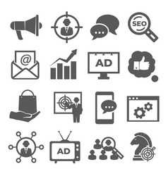 advertising icons on white background vector image
