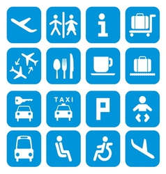Airport icons - pictograph set vector