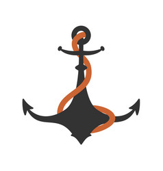 anchor isolated boat ship armature vector image