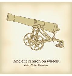 antique cannon vector image