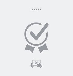 Approved symbol - web icon vector