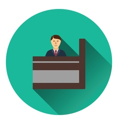 Bank clerk icon vector image