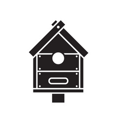 Bird nesting box icon vector