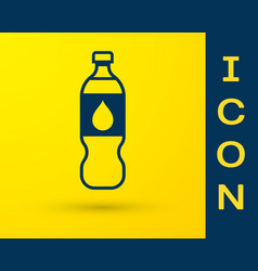 blue bottle water icon isolated on yellow vector image