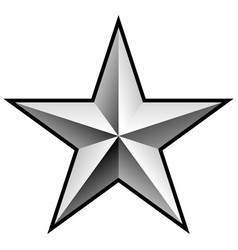 brilliant silver chrome star vector image