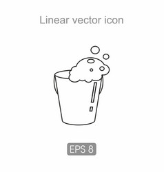 Bucket with water icon vector