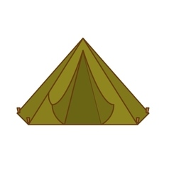 Camp tent icon image vector