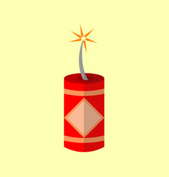 chinese lighted firecracker graphic vector image