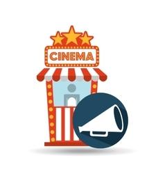cinema movie ticket office speaker graphic vector image