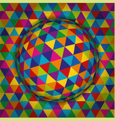 colored spherical 3d background pattern geometric vector image