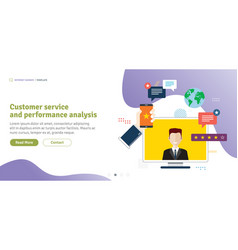 customer service and performance analysis vector image