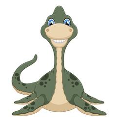 Cute plesiosaurus cartoon vector