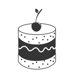Delicious and fresh cake isolated flat icon vector