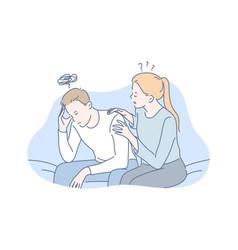 depression frustration support concept vector image