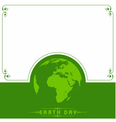 earth day greeting - go green concept vector image