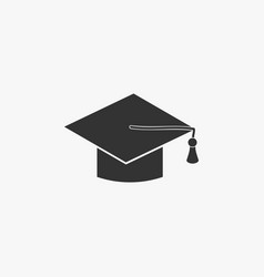 education cap icon vector image