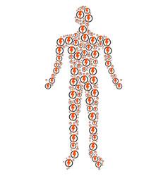 electricity human figure vector image