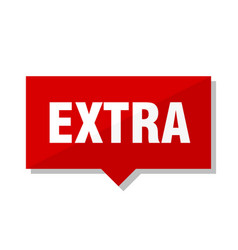 Extra red tag vector