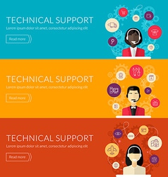 Flat design concept for technical support f vector
