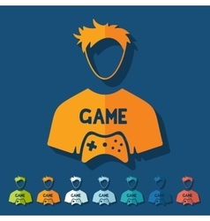 Flat design gamer vector
