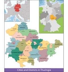 Free State of Thuringia vector image