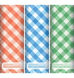gingham multicoloured vector image