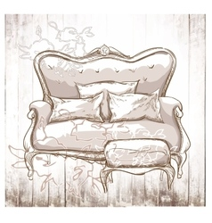 Hand made vecor sketch of cozy interior elements vector