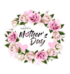 Happy mothers day background with beauty flowers vector