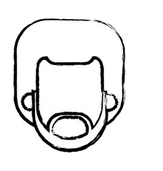 head beard man male afro person sketch vector image