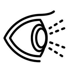 Healthy human eye icon outline style vector
