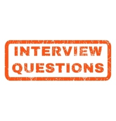 Interview Questions Rubber Stamp vector image