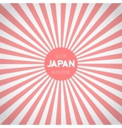 Japan flag sunburst background asian vector