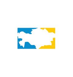 Kazakhstan map logo icon symbol element vector