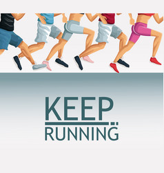 Keep running cartoon vector