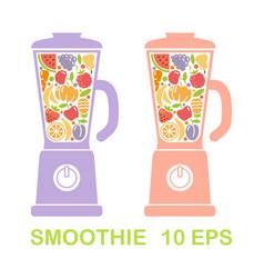 kitchen blender full of fruits and vegetables vector image