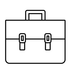 leather work business briefcase isolated vector image