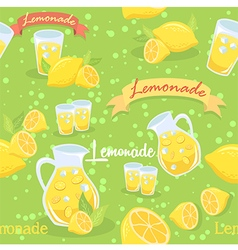Lemonade Seamless Pattern Green vector