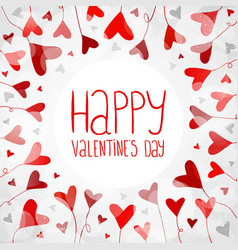 light background with hearts for valentines day vector image