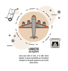 Logistic and delivery system infographic vector