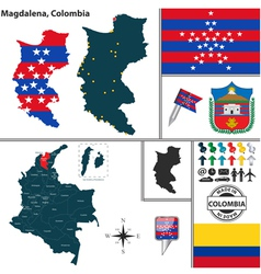 Map of Magdalena vector image