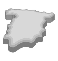 Map of Spain icon gray monochrome style vector