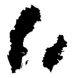 Map sweden and stockholm country and capital vector