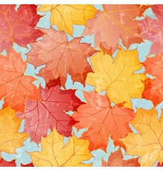 Maple leaves seamless wallpaper vector image